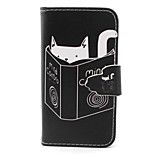 Reading  Pattern PU Leather Phone Case For iPhone 4/4S