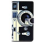 Camera  Design PU Leather Full Body Case with Stand for Sony Xperia M2