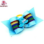 FUN OF PETS® Elegant Ribbon Style Hat Decorated Rubber Band Hair Bow for Pet Dogs