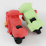 Cute Motorbike Cartoon Motorcycle Detachable Rubber Eraser (Random Color)