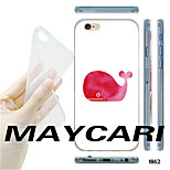 MAYCARI®Red Whale Pattern TPU Soft Transparent Back Case for iPhone 6