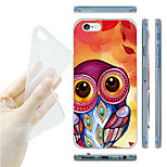 Big Eye Owl Pattern Painting TPU Soft Back Case for iPhone 6