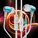 BYZ K460 Music Headset Ear Metal Headset With Wheat Ear Wire For IPhone6,IPhone 6 Plus