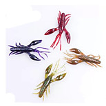 8pcs Fishing Bait Soft Shrimp Lures Random Color
