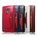 Crazy Horse Pattern Retro Fashion Card Back Shell Phone Leather Cover Bracket for  LG G4(Assorted Color)