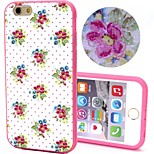 2-in-1 Bling Bling Point Flowers Pattern PC Back Cover with PC Bumper Shockproof Hard Case for iPhone 6