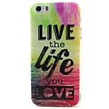 Life Pattern TPU Material Soft Phone Case for iPhone 5/5S