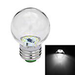 E27 1W 18x3014SMD 80-120LM 6000-6500K White LED Globe Bulb (AC 110-220V)