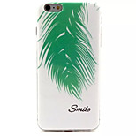 Feather Pattern IMD + TPU Phone Case For iPhone 6  Plus