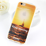 Keep Moving Pattern TPU Soft Case for iPhone 6