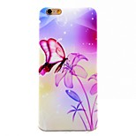 Ultra-Thin TPU Feel Protective Sleeve Butterfly Orchid for iphone 6