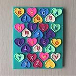 lettres d'amour moule en silicone gâteau fondant au chocolat, des outils de décoration ustensiles de cuisson en forme