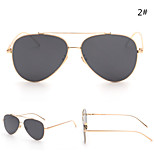 Women 's Mirrored 100% UV400 Aviator Sunglasses