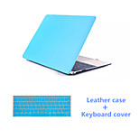 Solid Colors Luxury PU Leather Full Body Case with Keyboard Flim for Macbook Pro 15.4