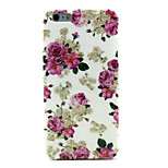 Pink Flowers Pattern TPU Soft Case for iPhone 6 Plus