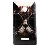 Cool Cat  Pattern TPU + IMD Soft Back Cover Case For Microsoft Lumia 435/Nokia N435
