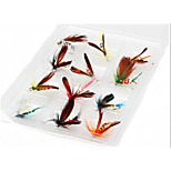 ESDY 12 Loaded Fly Hook Bait Lures New Bionic Imitation Butterfly Iures Lure