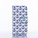 Anchors Pattern PU Leather Material Card Full Body Case for iPhone 5/5S