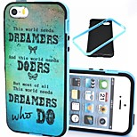 2-in-1 Dreamers and Dream Pattern TPU Back Cover with PC Bumper Shockproof Soft Case for iPhone 5/5S
