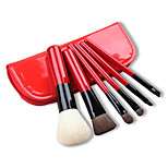 6 Makeup Brushes Set Nylon / Goat Hair Face / Lip / Eye