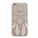 White Campanula Pattern Ultrathin Hard Back Cover Case for iPhone 6