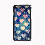 o caso duro coração-forma design em alumínio para iphone 6