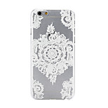 White Pattern PC Material Phone Case for iPhone 6 Plus