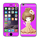 Cute Girl Pattern Front and Rear Toughened Cartoon Membrane for iPhone 6S/6(Assorted Colors)