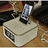 Iristime Bluetooth Speaker with FM/Alarm Clock/Remote Control/Charger for iPhone and Android Cellphone