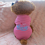 Dog T-Shirt - XS / S / M / L - Summer - Pink - Fashion - Cotton
