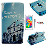 KARZEA™Happpy Buliding Pattern PU Leather Case with Screen Protector Stylus and Dust Plug for Samsung Grand Prime G530