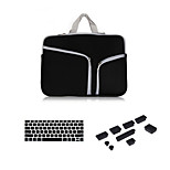Newest Zipper Sleeve bag with Keyboard Cover and Silicone Dust Plug for Macbook Retina 13.3