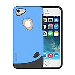 Pebble Series Dual-layer TPU+PC Rubber Protective Carrying Cover Case for iPhone 5/5S (Assorted Color)