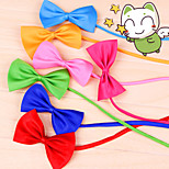 Pet Decoration Graceful Style Leisure Polyester Bow Tie for Pets(Random Colour)