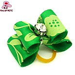 FUN OF PETS® Lovely Ribbon Style Rhinestone Decorated Rubber Band Hair Bow for Pet Dogs  (Random Color)
