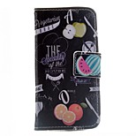 Fruits Pattern PU Leather Case for iPhone 5/5S