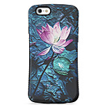 Lotus  Pattern PC + TPU Drop Resistance  Phone Shell For iPhone 6