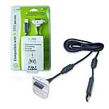 kinghan® trådløse kontrolleren usb ladekabel for Xbox 360 Slim (svart&hvit)