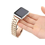 High Quality Five Beads Stainless Steel Classic Buckle Strap Bracelet for Apple Watch 42mm