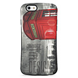 Telephone Booth  Pattern PC + TPU Drop Resistance  Phone Shell For iPhone 6