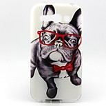 Dog Wearing Glasses Pattern TPU Material Phone Case for Alcatel C9