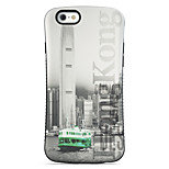 Hong Kong  Pattern PC + TPU Drop Resistance  Phone Shell For iPhone 6