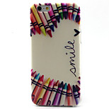 Crayons Pattern TPU Painted Soft Back Cover for iPhone 6