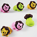Cartoon Lion Leo Assemble Rubber Eraser (Random Color)