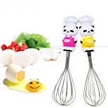 Egg Beater Kitchen Wire Whisk Hand Mixer with Panda Shaped Handle (Random Color)