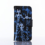 Giraffe Pattern PU Leather Material Card Full Body Case for iPhone 5/5S