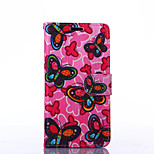 Butterfly Pattern PU Leather Full Body Case with Stand for Sony Z3