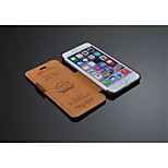 Genuine Leather Solid Color Case with Kickstand Full Body Case Wallet Case For iPhone 6 Plus(Assorted Color)