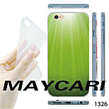 MAYCARI®Gradient Green Pattern TPU Soft Transparent Back Case for iPhone 6