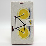 Bicycle Pattern PU Leather Full Body Case with Card Slot and Stand for iPhone 6/6S
